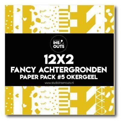 Studio Ins & Outs Fancy achtergronden #5 – Okergeel Design papier