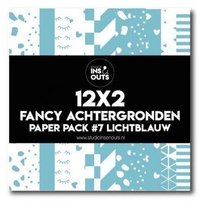 Studio Ins & Outs Fancy achtergronden #7 – Lichtblauw Design papier