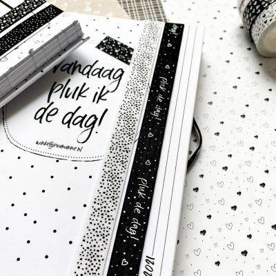Winkeltjevananne Boek elastieken met penlus – Set 4 (4 stuks) Boek elastiek