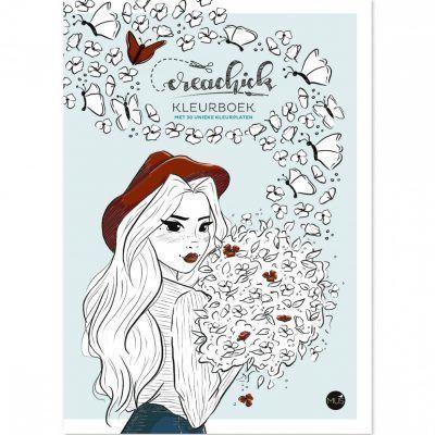 CreaChick Kleurboek Kleurboek voor volwassenen
