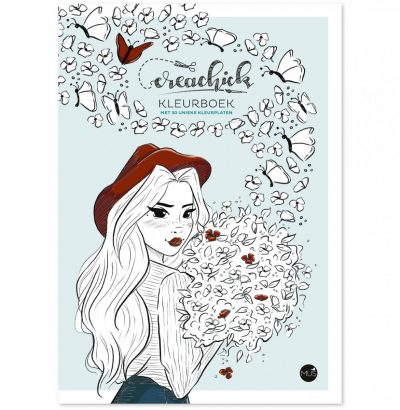 CreaChick Kleurboek Boeken in de aanbieding