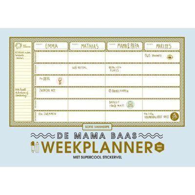 Mama Baas Familie weekplanner Familie weekplanner