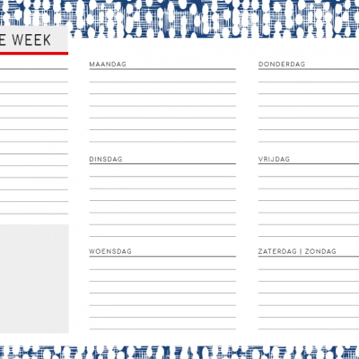 Weekplanner – Business Notitieblokken