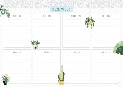 Weekplanner – Houseplants Notitieblokken