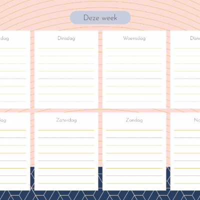 Weekplanner – Pink Patterns Notitieblokken