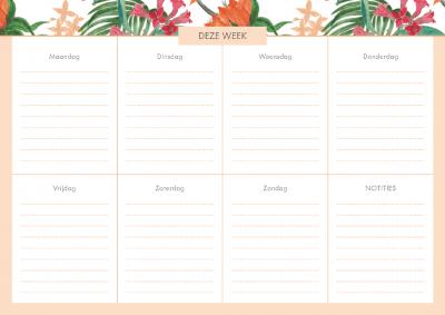 Weekplanner – Tropical Flowers Weekplanner