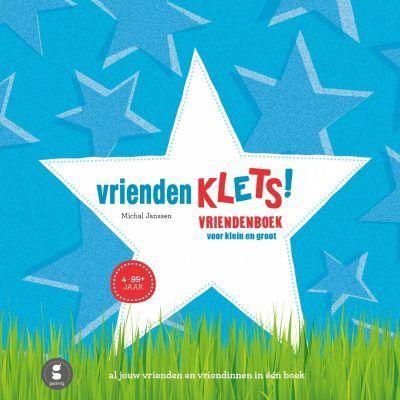 Gezinnig Vriendenklets blauw – Vriendenboekje Cadeauboeken tot 15,-
