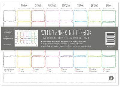 Gezinnig Weekplanner notitieblok A4 Familie weekplanner