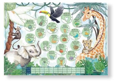 Mini Miles Milestoneposter A4 – Jungle green Babyposters
