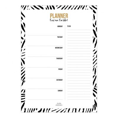 Studio Stationery Weekplanner A4 Leaves Jaarplanner