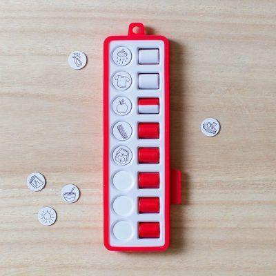 Gezinnig Checkpad – Rood Dagplanner