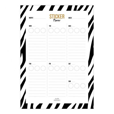 Studio Stationery Notitieblok Sticker weekplanner Collegeblokken