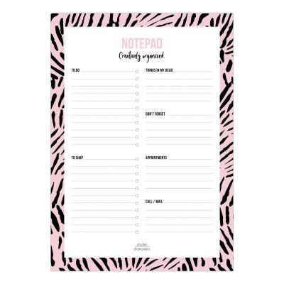 Studio Stationery Notitieblok Creatively organized Pink leaves Notitieblokken