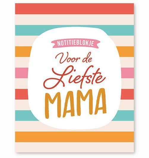 Notitieblokje – Voor de liefste mama Cadeauboek voor moeder