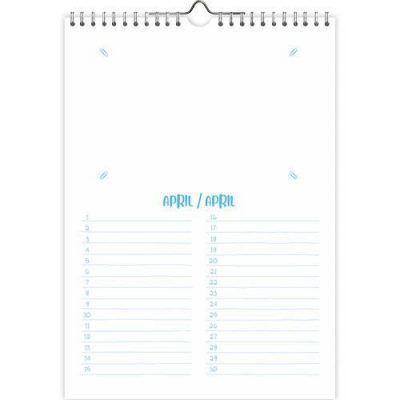 Do it Yourself verjaardagskalender – A4 Do it yourself kalender