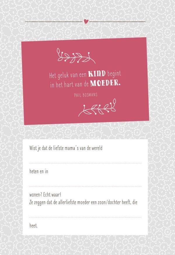 Mama jij bent uniek! Invulboek Cadeauboek voor moeder
