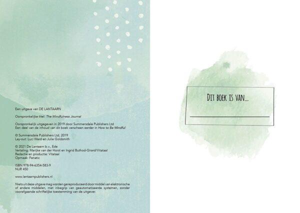 Mijn mindfulness journal Dagboek
