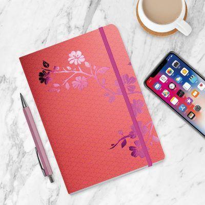 Notitieboek Metallic Blossom Pink met dots – A5 Bullet Journal