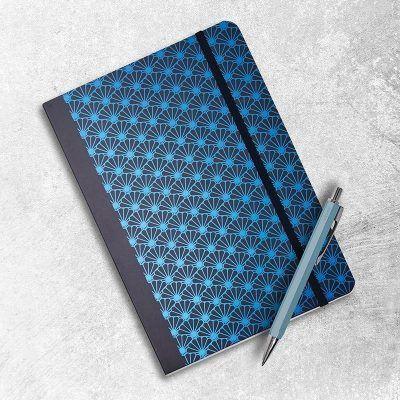Notitieboek Metallic Shell Black met dots – A5 Bullet Journal