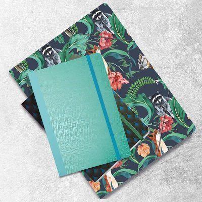 Notitieboek Metallic Wave Green met dots – A5 Bullet Journal