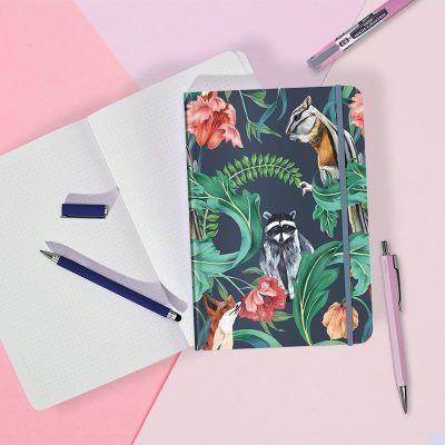 Notitieboek Racoon met dots – A5 Bullet Journal