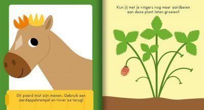 Op de boerderij – Vingerafdrukken knutselboek Kleurboek dieren