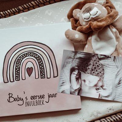 SilliBeads Baby's eerste jaar invulboek – Groen – Hardcover wire-O Babyboek