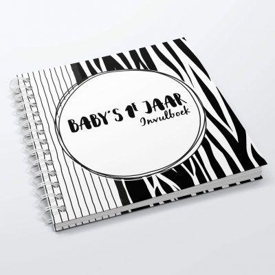 SilliBeads Baby's eerste jaar invulboek – Hardcover wire-O Babyboek