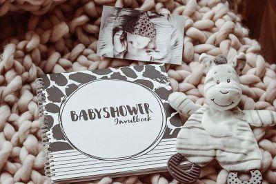 SilliBeads Babyshower invulboek – Panterprint Babyshower cadeau