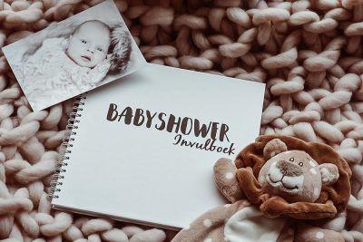 SilliBeads Babyshower invulboek – Zwart-wit Babyshower cadeau