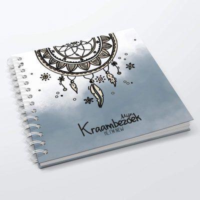 SilliBeads Het Kraambezoek invulboekje – Blauw – Hardcover wire-O Kraambezoekboek
