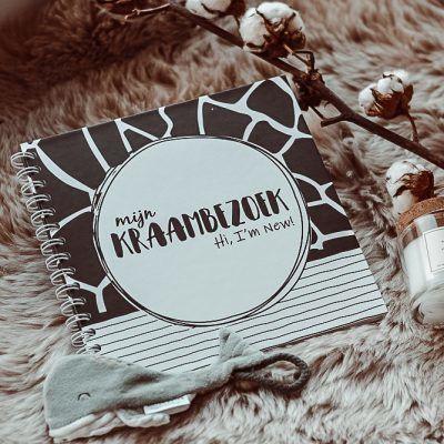 SilliBeads Het Kraambezoek invulboekje – Panterprint – Hardcover wire-O Kraambezoekboek