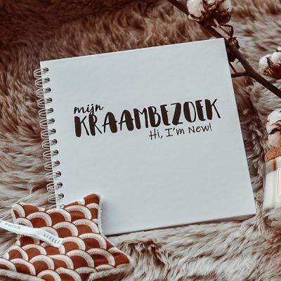 SilliBeads Het Kraambezoek invulboekje – Zwart-wit – Hardcover wire-O Kraambezoekboek