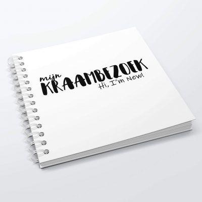 SilliBeads Het Kraambezoek invulboekje – Zwart-wit Kraambezoekboek