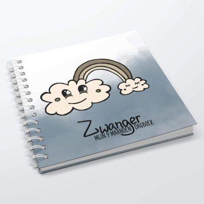 SilliBeads Mijn 9 maanden dagboek – Blauw 9 maanden dagboek