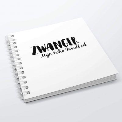 SilliBeads Mijn Echo invulboekje – Zwart-wit – Hardcover wire-O Echoboekje