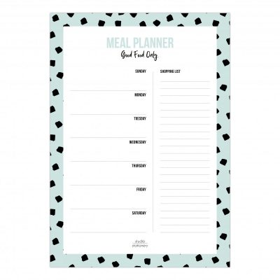 Studio Stationery Meal planner – Mint Boodschappen planner