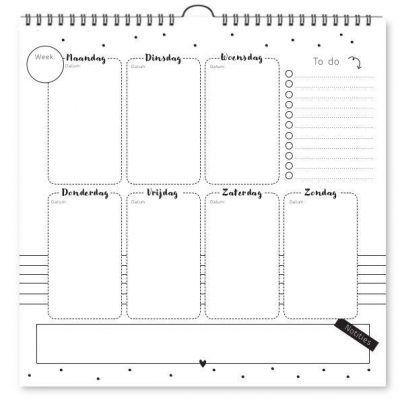 Fyllbooks Ophangbare weekplanner Jaarplanner