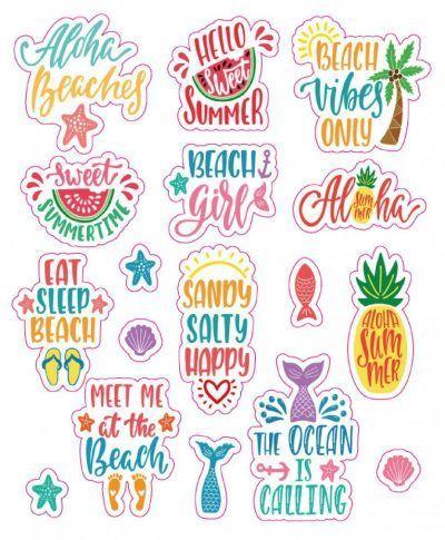 Stickerboek – 1000 Sunny Vibes Scrapbook stickers