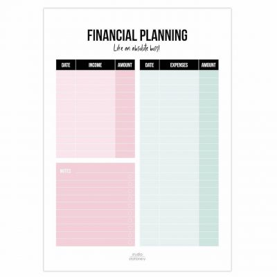 Studio Stationery Financial planning Notitieblok A5 Budgetplanners