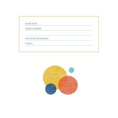 Adresboek Circles – A5 Adresboek