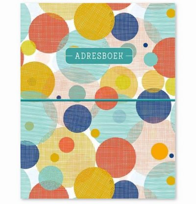 Adresboek Circles – A5 Adresboek van A5 formaat