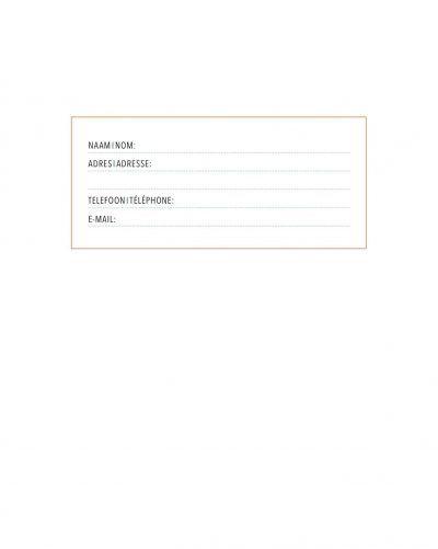 Adresboek Dark Blue – A5 Adresboek
