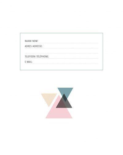 Adresboek Triangles – A5 Adresboek