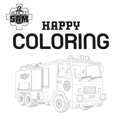 Brandweerman Sam Happy Coloring – Blauw Kleurboeken voor jongens