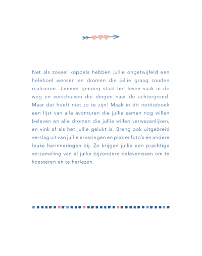Bucketlist voor jou & mij – Notitieboek Bucketlist boek