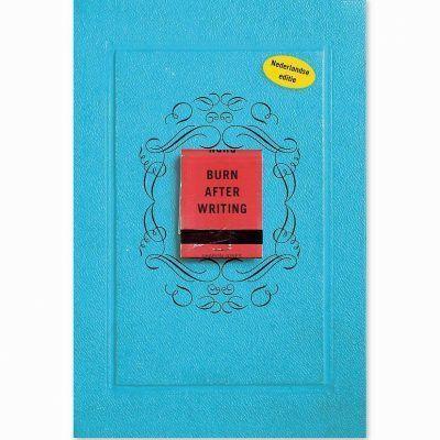 Burn after writing – Blauw Burn after writing