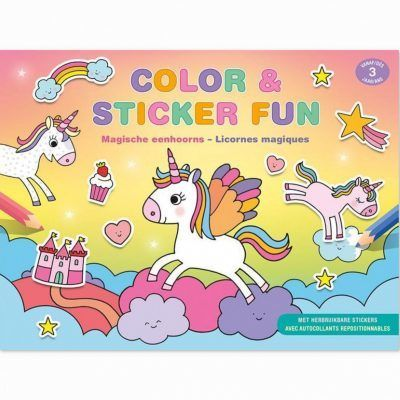 Color & Sticker Fun – Stickerboek Magische eenhoorns Kinderstickers