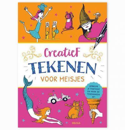 Creatief tekenen voor meisjes – Tekenboek Kleurboeken voor kinderen