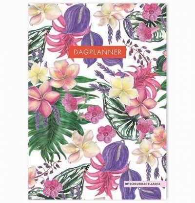 Dagplanner Tropical Flowers – A5 Dagplanner